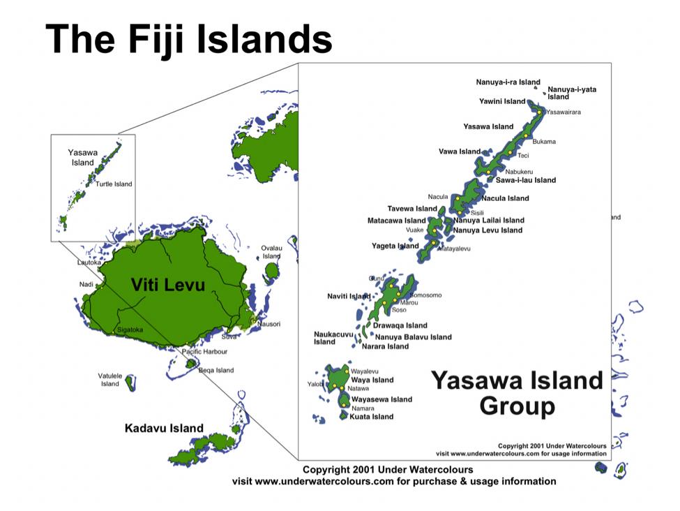 Yasawa Islands Fiji Map Yasawa I Rara Fiji Cruise Port of Call